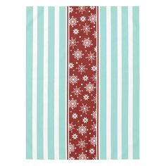 Red And Blue Snowflake Tablecloth