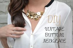 DIY – vintage buttons necklace
