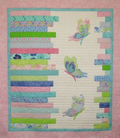 Flutterby Kit designed by Tegan Montgomery-Williams Apple Baskets, Cot Quilt, Basket Crafts, Basket Quilt, String Quilts, Baby Quilts, Children's Quilts, Couture, Applique Designs