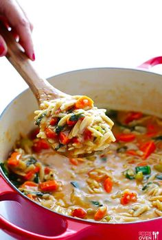 Italian Orzo Spinach Soup | 18 One-Pot Dinners You Can Make In A Dutch Oven