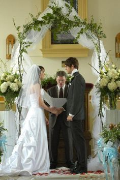 From breezyweekes: her and dallon's wedding! Aww! <3