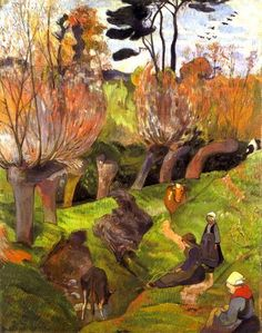 Paul Gauguin - The willows.