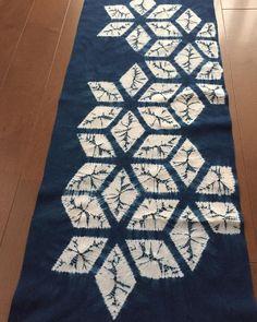 Gorgeous shibori by Fumie Ichisawa: A study of Asanoha pattern(麻の葉)|| #shibori #indigo