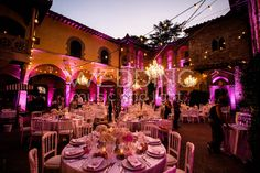 [Up-lighting + String Lights + Chandeliers] Castello Il Palagio - Mercatale In Val di Pesa (FI)