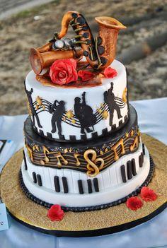 """Le torte decorate di Cetty G: Cake music ...per il concorso """" Torta in musica"""" Creative Birthday Cakes, Happy Birthday Cake Images, Beautiful Birthday Cakes, Birthday Cakes For Teens, Creative Cakes, Music Themed Cakes, Music Cakes, Bolo Musical, Cake Pops Frosting"""