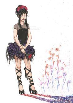 Little black dress by Ludimie.deviantart.com on @DeviantArt