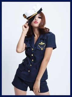 Flight Pilot Outfit  http://www.ebay.com/itm/Sexy-Flight-First-Pilot-Uniform-Costume-Dress-w-Waistband-V5041-/110757755058?pt=US_Costumes=item19c9ad38b2