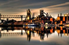 Essar Steel in Sault Ste. Marie (formerly Algoma Steel), by Billy Wilson Urban Photography, Landscape Photography, Sault Ste Marie, Rocky Shore, Great Lakes, Canada Travel, Ontario, Michigan, Places To Go
