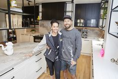 The Block 2018 Gatwick: Challenge Apartment reveal 2 Beige Couch, The Block, Movie Projector Screen, Reno Shows, Colourful Lounge, Cool Kitchens, Chef Jackets, Bomber Jacket, Challenges
