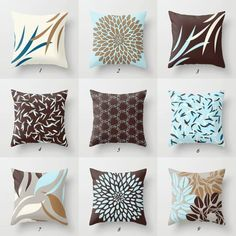 blue and brown pillows blue pillow covers cushions throw pillows lumbar pillows rectangular pillow decorative pillows geometric cushion Brown Throws, Brown Throw Pillows, Brown Cushions, Blue Pillows, Decor Pillows, Accent Pillows, Brown Pillow Covers, Grey Cushion Covers, Decorative Pillow Covers