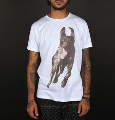 "T-shirt White ""Dog tony"" MATclothing (Made in Italy)  BUY IT HERE: www.matclothing.com"
