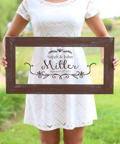Love this Morgann Hill Designs Rustic Newlyweds Personalized Wall Sign by Morgann Hill Designs on #zulily! #zulilyfinds