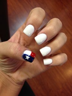 My new nails! I may live in Oregon, but I belong in Texas ❤️