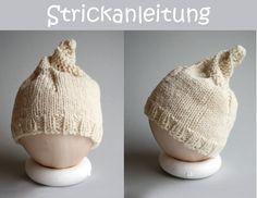 Anleitung Babymütze Spirale  stricken Mütze von orimono auf DaWanda.com