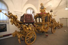 Horse carriages in the Marstallmuseum, Nymphenburg