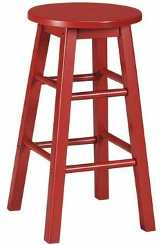 """Logan Stool Set Of 2, 24""""H, RED by Home Decorators Collection. $40.99. Bar Stool: 30""""H x 12.5"""" diameter.. Counter Stool: 24""""H x 12.5"""" diameter.. Bring a stylized look to your bar with the Logan Stools. Crafted of wood in your choice of color, these classically design stools will bring a contemporary twist to your bar or kitchen space. Add one or several to your decor today for a sophisticated look you're sure to love. Crafted of quality materials for years of lasting beauty ..."""
