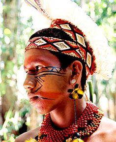 Referência Pintura Indígena - Ligação com o nome da agência e cores do logo e kit de lançamento