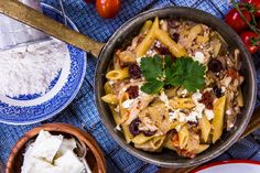 Learn to make this Greek Chicken Pasta from @taste_of_home! Tune into #homeandfamily weekdays at 10/9c on Hallmark!