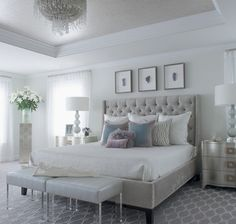 MODERN GLAM - traditional - Bedroom - New York - Susan Glick Interiors