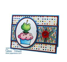 Paperesse: Simply Cards & Papercraft #150 birthday cards featuring free digital images from 2 Cute Ink