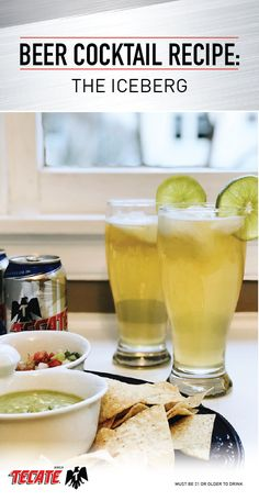This post has been sponsored by Tecate Light. Is there anything better than a beach vacation … Beer Cocktail Recipes, Beer Recipes, Cooking Recipes, Beach Drinks, Fun Drinks, Alcoholic Drinks, Cocktails, Ice Beer, Cooking