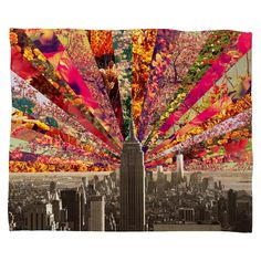 Give your walls a bold touch with the Bianca Green Blooming NY Canvas Wall Art from Deny Designs. Depicting the New York City skyline against a bright floral ground, this piece will surely make a statement in any room of your home. Collages, Collage Art, Affordable Wall Art, Art Lessons, Canvas Wall Art, Graphic Art, Art Projects, Duvet, Gallery Wall