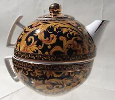 Crown Porzellan Eleganz Teetasse One Cup Tee-Topf und Deckel