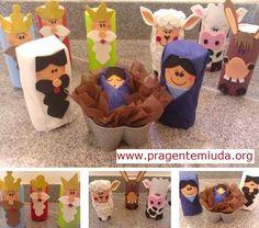 . Nativity Crafts, Christmas Nativity, A Christmas Story, Christmas Deco, Kids Christmas, Kids Crafts, Holiday Crafts For Kids, Bible Crafts, Kids Toilet