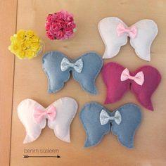 Dolgulu melek kanadı :) Bebek şekeri ve doğumgünlerinde dağıtılmalık güzel hediyelik. Bilgi ve sipariş için : https://www.facebook.com/benimsuslerim https://instagram.com/benimsuslerim/