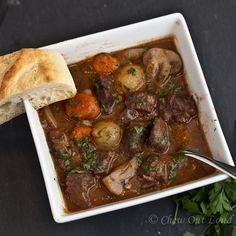 French Beef Stew.  Your loved ones won't forget this dish.  Tender, mouthwatering, comforting goodness.