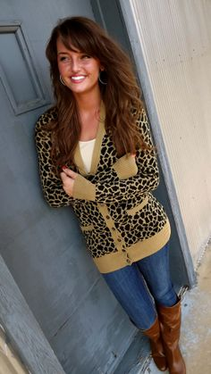 Leopard cardigan $40