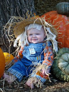 Homemade Scarecrow Costume- my handsome nephew Liam :)