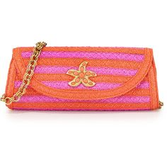Eric Javits Paradise Woven Clutch Bag ($89) ❤ liked on Polyvore featuring bags, handbags, clutches, torpedo, red purse, woven purse, imitation handbags, straw handbags e straw clutches