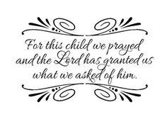 1 Samuel 1 27-Framed-For this child we prayed