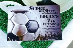 Paisley Petal Events soccer party invite