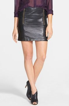 Two by Vince Camuto Faux Leather Miniskirt (Regular & Petite) available at #Nordstrom