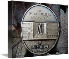 "Patek Philippe Geneve Commemorative Medal Coin $74 // Style: Soft Edge Canvas Print; Size: Small 11"" x 15"" // Visit http://www.imagekind.com/Patek-Philippe-Geneve-PPG_art?IMID=8a85802b-eeec-4645-9012-f6a2af3151ab for product details."