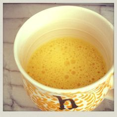 I can't get enough of this turmeric milk tea!  It's so delicious & a great alternative to coffee.   almond milk  + raw honey + tumeric.  Click for the recipe! #goldenmilk #glutenfree #dairyfree