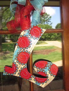 Hand Painted Letters by FreshFunkyDesigns on Etsy