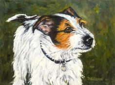 Jack Russell Oil Painting Pet Art Commission Portrait Dogs Animals, painting by artist Debra Sisson