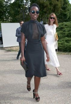 Another fashion victory: Lupita Nyong'o looked great on Wednesday at the Maison Margiela PFW show