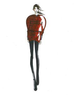 Croquis de Humberto Leon et Carol Lim pour la collection Kenzo automne-hiver 2013-2014