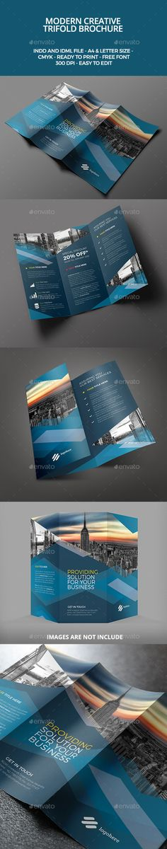 Modern Trifold Brochure Template #design Download: http://graphicriver.net/item/modern-trifold-brochure/9861932?ref=ksioks