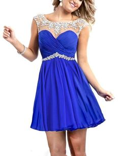 Babyonline Cheap Homecoming Dresses New Short Party Dresses For Teens, Aqua, 2