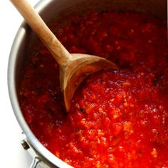 Marinara Sauce (Gimme Some Oven) Salsa Marinara Casera, Best Marinara Sauce, Homemade Marinara, Tomato Sauce, San Marzano Tomaten, Salsa Italiana, Gimme Some Oven, Snacks, Sauce Recipes