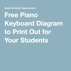 Free Piano Keyboard Diagram to Print Out for Your Students