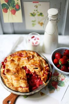 Zucker Zimt und Liebe - Rezept für den sexyiesten Strawberry Pie, den ich je gegessen habe