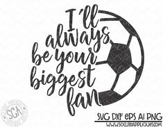 Soccer soccer mom I'll Always be her biggest fan soccer Soccer Moms, Soccer Pro, Soccer Mom Shirt, Soccer Shirts, Soccer Players, Mom Shirts, Morgan Soccer, Nike Soccer, Basketball Hoop