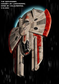 Commissioned: The Sophonisba by Colourbrand on deviantART I like. Looks like it could be Corellian from Star Wars.