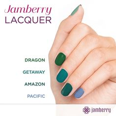 Fall '15 Lacquer Colors | by Jamberry Home Office  Jamberry Lacquers are 5 free meaning they do not contain any harmful chemical, they are also chip resistance and dry quicker then traditional polishes. Order you own at Amandakays.Jamber.... Earn 10% off for every 4 lacquers.
